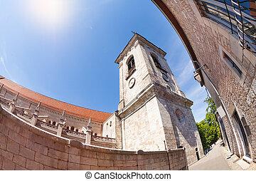 低い 角度, st. 。, besancon, 大聖堂, ジーン, 光景