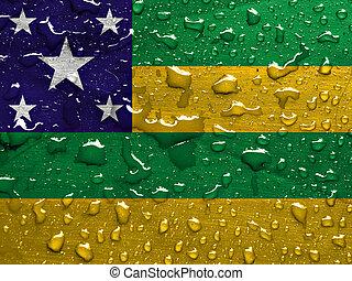 低下, 雨, 旗, sergipe