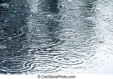 低下, 雨, 背景