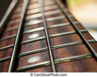 低音吉他, 脖子, 以及, 線
