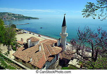 住处, 在中, the, 罗马尼亚语, 女王, 在以前, the, 黑海, 在中, balchik, 保加利亚