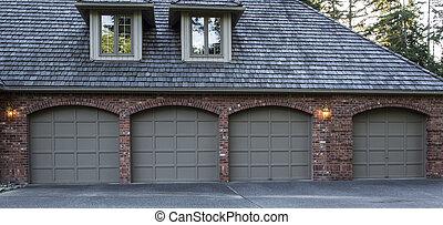 住宅の, ドア, ガレージ
