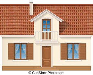 住宅の, facade., 家