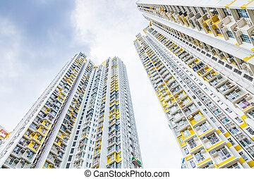 住宅の, highrise, アジア