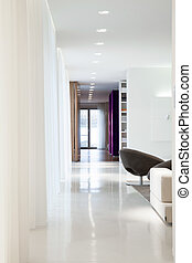 住宅, 中, 優雅である, 設計された, 内部, 広い