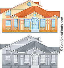 住宅, 図画, 国