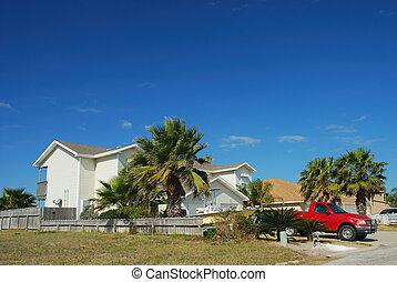 住宅, 房子, 在中, 南方的美国