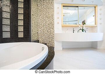住宅, 浴室, 設計された, 高い