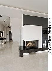 住宅, 現代, 暖炉, 設計された