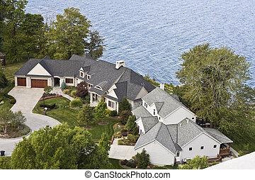 住宅, lakefront