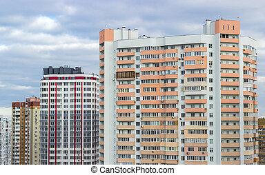 住房 莊園, 由于, 現代, 多層, 公寓建筑物
