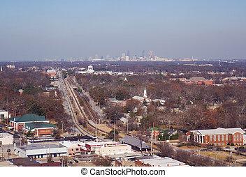 佐治亞, 空中, 公園, 亞特蘭大, 學院, 看法