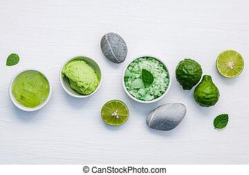 体世話, 皮膚, 原料, 手製, ごしごし洗う, 緑, 自然