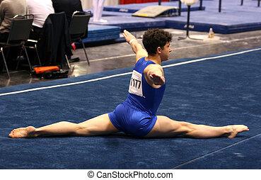 体操運動員, 地板