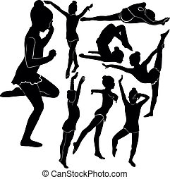 体操選手, 女の子, 運動選手