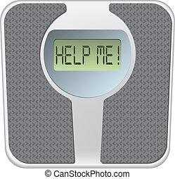 体重計, me!, 助け, スクリーン, 単語