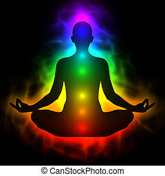 体, エネルギー, 人間, chakra, 前兆, 瞑想