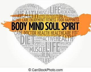 体, 心, 心, 精神, 精神