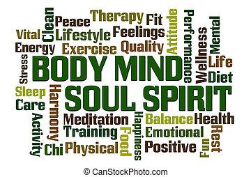 体, 心, 精神, 精神