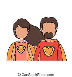体, 心, 風刺漫画, 身元を隱した, カラフルである, 恋人, ユニフォーム, 半分, 英雄, 極度, シンボル