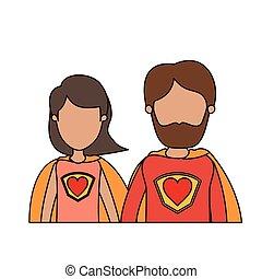 体, 心, 風刺漫画, 身元を隱した, カラフルである, 恋人, ユニフォーム, 親, 半分, 英雄, 極度, シンボル