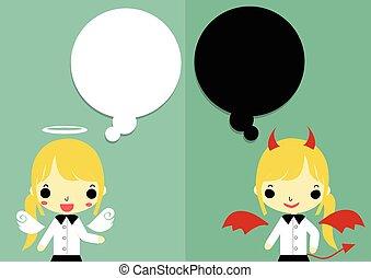 体, 悪魔, version2, 考え, 神, 半分