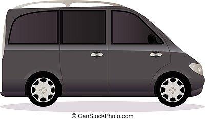体, 自動車, タイプ, minivan