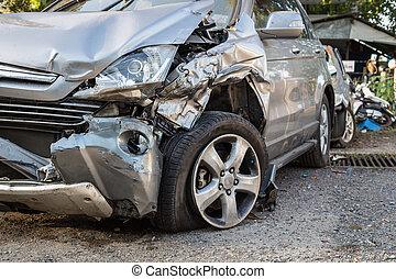 体, 自動車, 傷つけられる, 事故, 得なさい