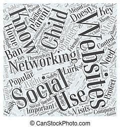 何か, 概念, ネットワーキング, について, ウェブサイト, 親, 知りなさい, 社会, 必要性, 単語, あなた, 雲