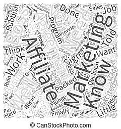 何か, 概念, 単語, マーケティング, について, affiliate, 知りなさい, 必要性, あなた, 雲