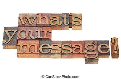 何か, 質問, メッセージ, あなたの