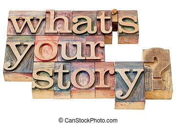 何か, 質問, 物語, あなたの