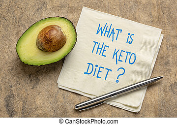 何か, keto, diet?, concept., 食事, ketogenic