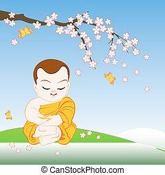 佛教徒僧侶, 卡通