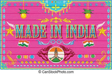 作られた, インド, 背景