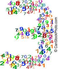 作られた, カラフルである, ナンバー3, 3, 数