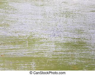 作られた, グランジ, 抽象的, 古い, 変位, 手ざわり, 色, 緑, 表面, 白, spiked, 横, 多数, scratches.