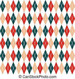 作られた, ダイヤモンド, -, ベージュ, しまのある, seamless, 印刷, 伝統的である, 手, 包むこと, クリスマス, intersection., 生地, スカンジナビア人, 使われた, drawing., argyle, パターン, ペーパー, 赤, スタイル, 壁紙, decor., 緑