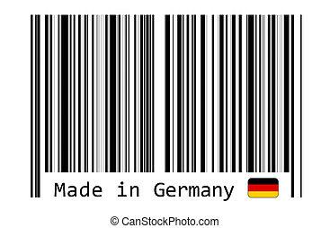 作られた, ドイツ, barcode, ラベル