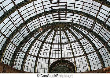 作られた, --, ドーム, ガラス, 建築, 未来派, から