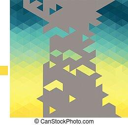 作られた, 三角形, elements., カラフルである, 抽象的, 背景