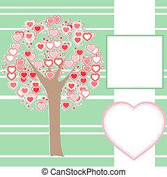 作られた, 愛, 木, 定型, 心, メッセージ