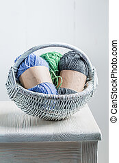 作られた, 有色人種, 型, 編まれる, 羊毛, スカーフ