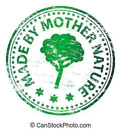 作られた, 母, 切手, 自然