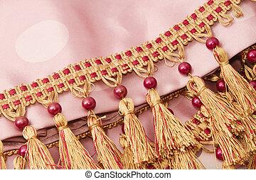 作られた, 調子, 糸, 2, 装飾, ブラシ, カーテン