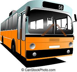 作られた, co, 古い, 観光客, bus., 都市