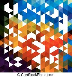 作られた, eps10, カラフルである, 抽象的, ベクトル, 背景, 三角形