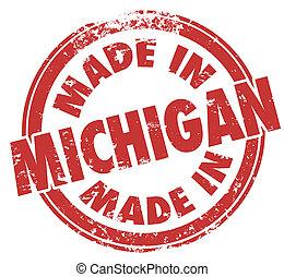 作られた, sta, 切手, 生産された, ミシガン州, デトロイト, 生産された, インク, 赤