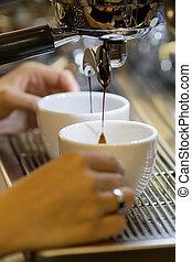 作りなさい, エスプレッソ, barista, コーヒー