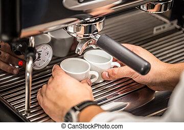 作りなさい, バーテンダー, コーヒー, 人